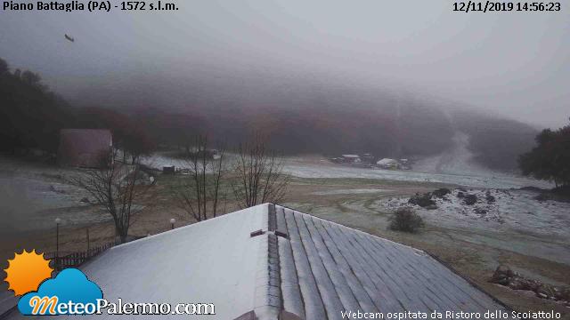 La neve imbianca Piano Battaglia, fiocca sui monti della Sic
