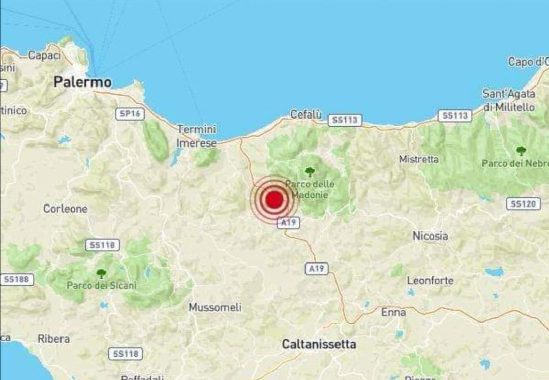 Tremano le Madonie, registrata scossa di terremoto