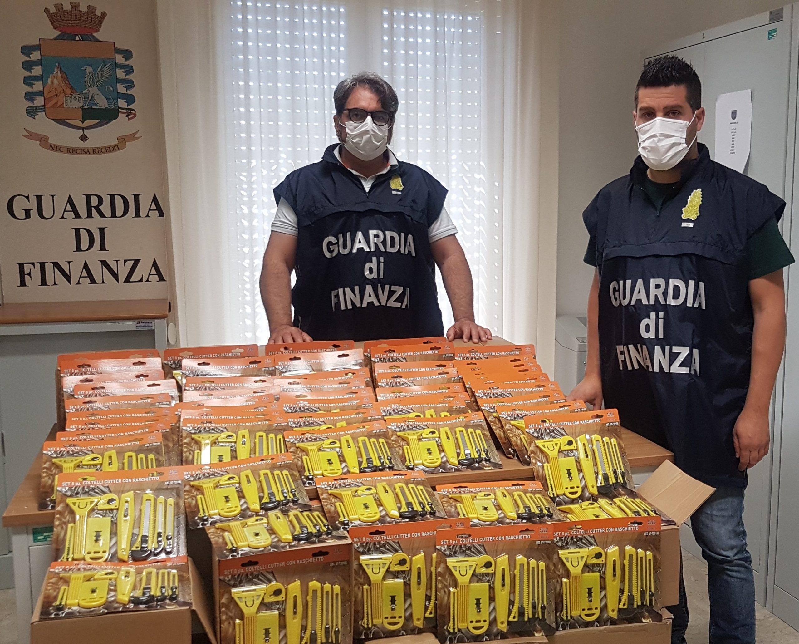 San Giuseppe Jato, maxi sequestro della Finanza in un negozi