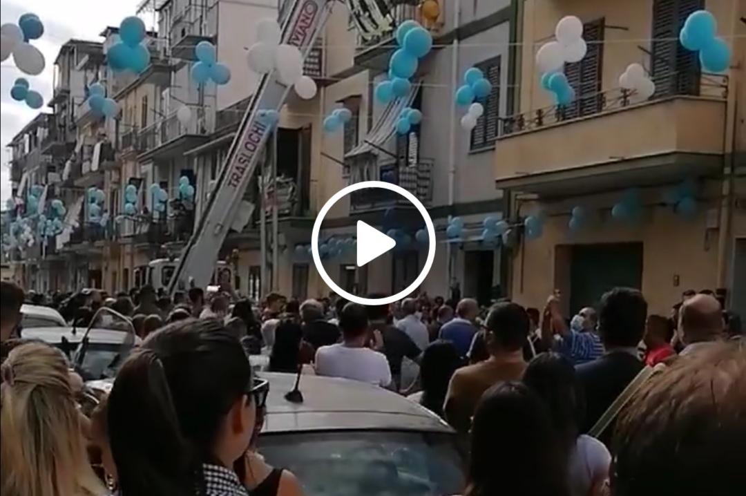 Al funerale di Agostino Cardovino tutta la Noce in lacrime e dolore (VIDEO)