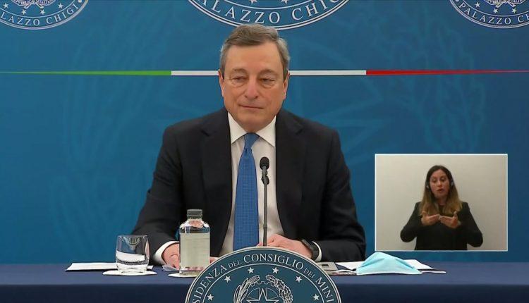 Mario Draghi conferenza stampa riaperture